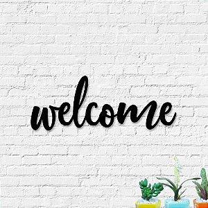Palavra Decorativa de Parede Welcome