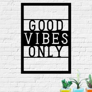 Quadro Decorativo Frase Good Vibes Only