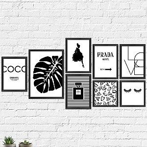 Kit Quadros Decorativos Decoração Channel Fashion