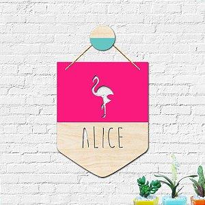 Flâmula Decoração Infantil Flamingo