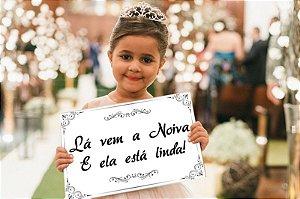 Placa de Casamento - Frase Personalizável - Modelo 06