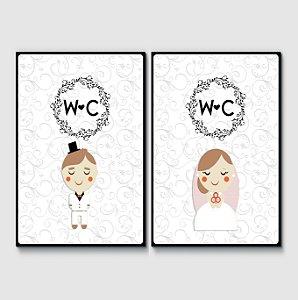 Placas WC Casamento