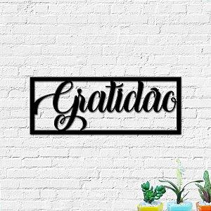 Quadro Decorativo Palavra Gratidão