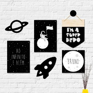 Kit Decoração Infantil Espaço