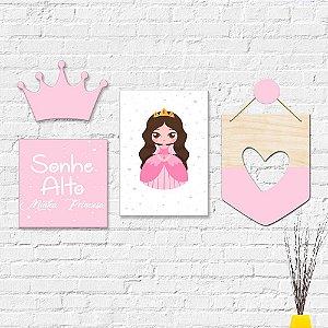 Kit Decoração Infantil Princesa