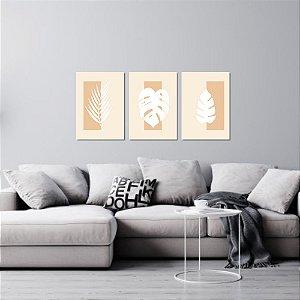 Kit Quadros Decorativos Decoração Folhas