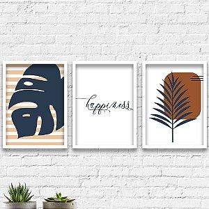 Kit Quadros Decorativos Decoração Folha