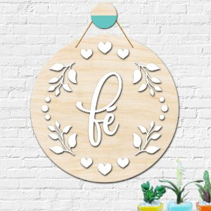 Placa Decorativa Fé