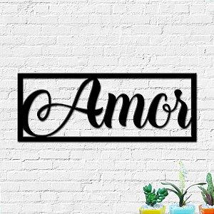 Quadro Decorativo Palavra Amor