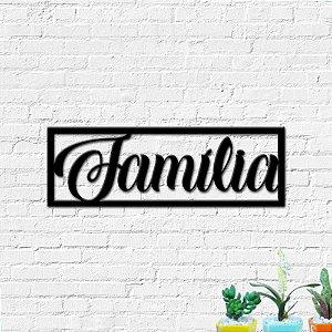 Quadro Decorativo Palavra Família