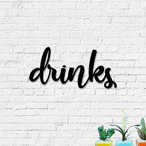 Palavra Decorativa de Parede Drinks