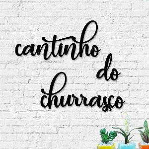 Palavra Decorativa de Parede Cantinho do Churrasco