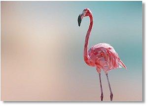 Quadro Decorativo Decoração Flamingo Geométrico