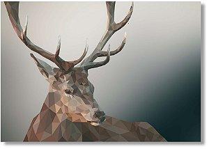Quadro Decorativo Decoração Cervo Geométrico