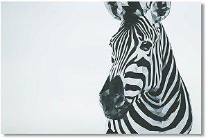 Quadro Decorativo Decoração Zebra Geométrica