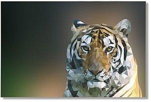 Quadro Decorativo Decoração Tigre Gométrico