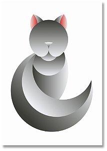 Quadro Decorativo Decoração Gato Minimalista