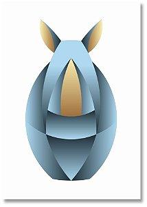 Quadro Decorativo Decoração Rinoceronte Minimalista