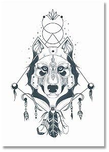 Quadro Decorativo Decoração Lobo