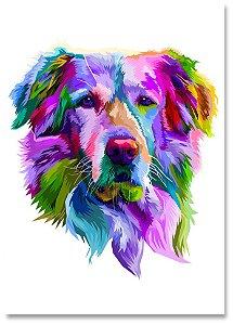 Quadro Decorativo Decoração Cachorro Golden Retriver