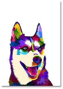 Quadro Decorativo Decoração Cachorro Husky Siberiano
