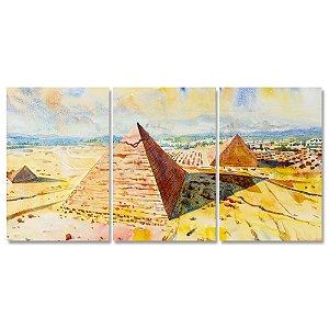 Conjunto Quadros Decorativos Pirâmides