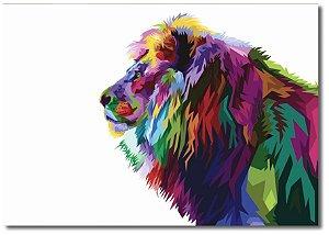 Quadro Decorativo Decoração Leão