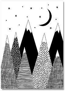 Quadro Decorativo Decoração Montanhas