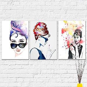 Kit Quadros Decorativos Audrey Hepburn