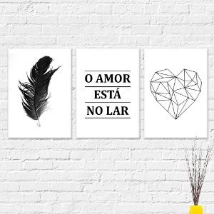 Kit Quadros Decorativos O Amor Está no Lar