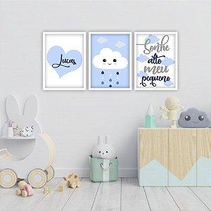 Kit Quadros Decorativos Sonhe Alto