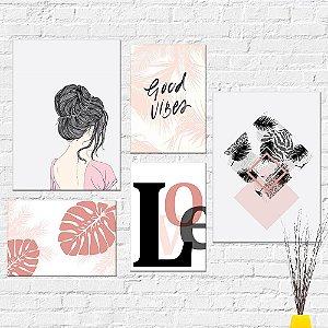 Kit Quadros Decorativos Love Menina
