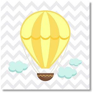 Quadro Decorativo Balão Amarelo