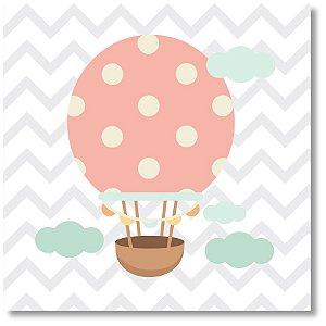 Quadro Decorativo Balão Rosa