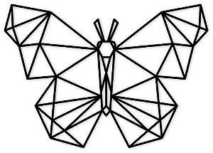Aplique de Parede Borboleta Geométrica