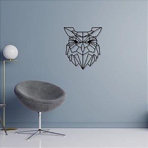 Escultura de Parede Coruja Geométrica