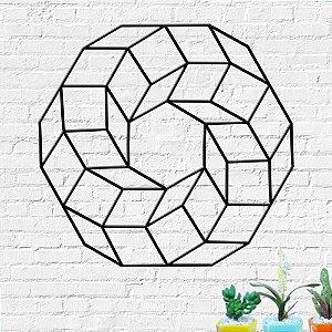 Aplique de Parede Círculo Abstrato Geométrico