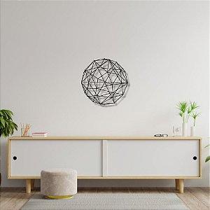 Escultura de Parede Círculo Abstrato Geométrico