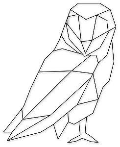 Aplique de Parede Coruja Geometrica