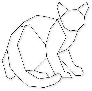Aplique de Parede Gato Geométrico