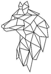 Aplique de Parede Lobo Geométrico