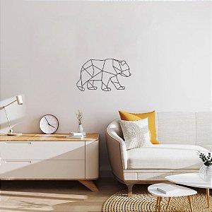 Escultura de Parede Urso Geométrico