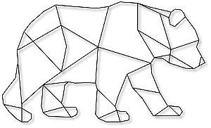 Aplique de Parede Urso Geométrico