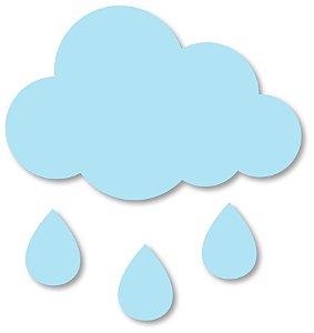 Aplique de Parede Nuvem com Gotinhas