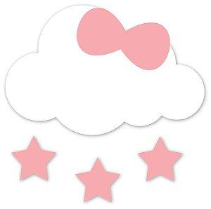Aplique de Parede Nuvem com Estrelinhas