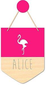 Flâmula Flamingo + Ganchinho Brinde
