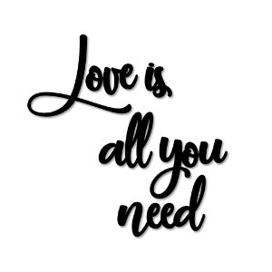Palavra de Parede Love is all you need