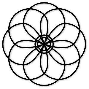 Escultura de Parede Mandala