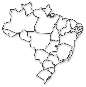 Escultura de Parede Mapa do Brasil Geométrico