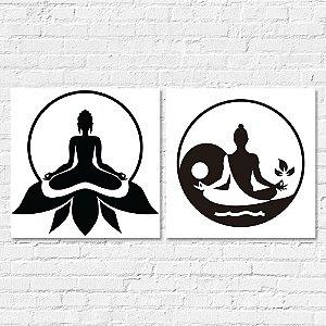 Kit Quadros Decorativos Decoração Meditação